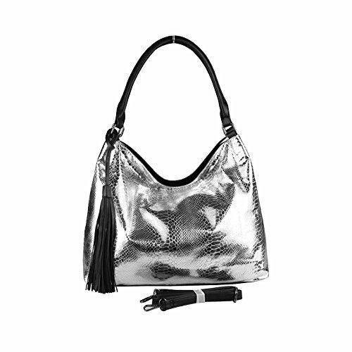 Oferta: 36.95€. Comprar Ofertas de OBC Only-Beautiful-Couture - Bolso de tela para mujer plateado Silber 40x30x15 cm xx-large barato. ¡Mira las ofertas!