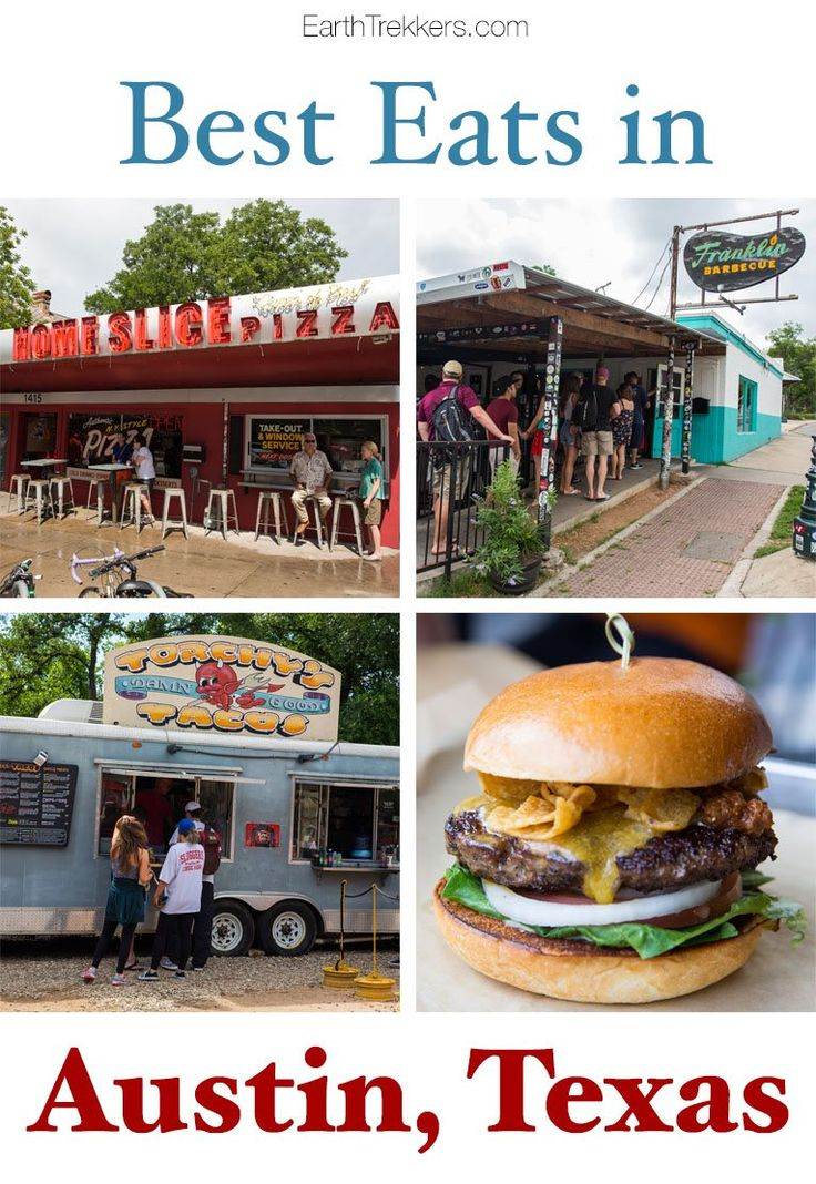 Austin Texas. 10 Best Restaurants to try. Franklin Barbecue, Launderette, Torchy's Tacos, Hopdoddy, and more.