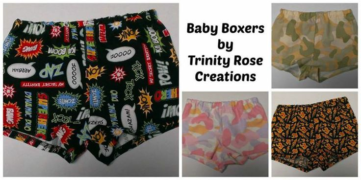 Baby Boxers. Four designs available in various sizes. Only one of each design available Under $10 Market Night Tuesday 8th April, 2014