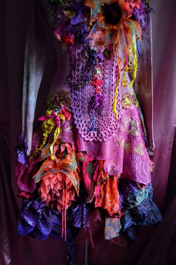 Bohemianromantic dress Size M/S altered by IrinaBohemianDance