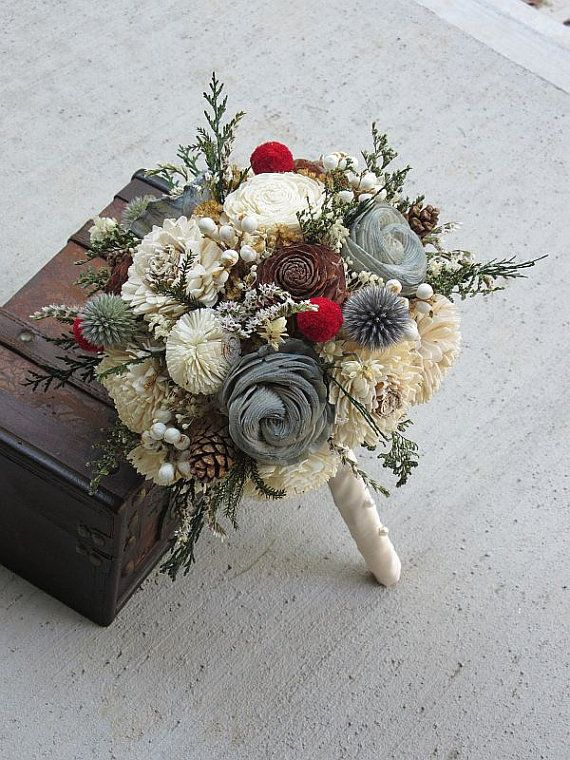 awesome Etsy listing at https://www.etsy.com/listing/248542484/wedding-bouquet-sola-wood-bouquet-dried