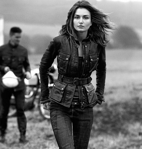 urbnite:  Belstaff Women's Hand Waxed Leather Triumph leather...