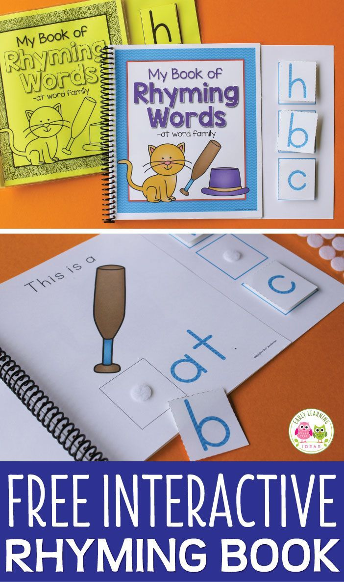 The Free Printable Books That Will Help Your Kids With Rhyming Literacy Activities Preschool Rhyming Activities Preschool Literacy Work Stations