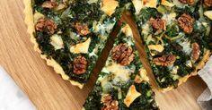 En vegetarisk paj med grönkål, lök, getost och valnötter. Det blir en perfekt kombination av smaker!