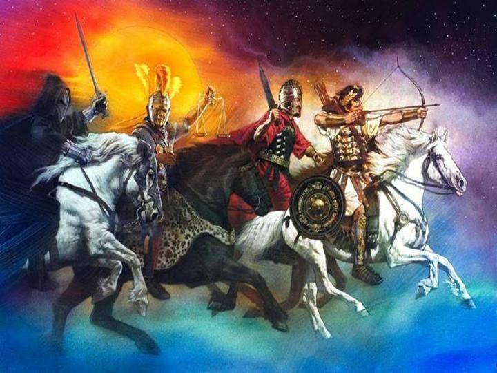 The 4 horsemen of the Apocalypse.