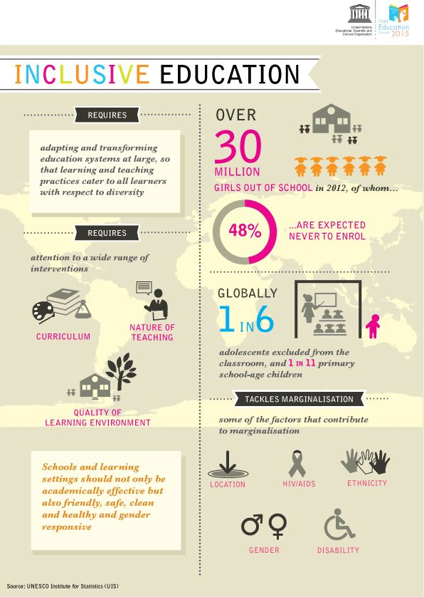 Inclusive education infographic