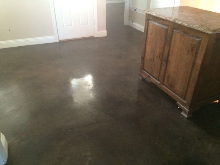 Kitchen With Stained Floor