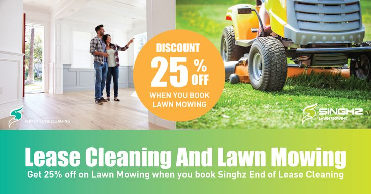 Book end of lease cleaning and Get 25% off on Lawn Mowing? View our vacate cleaning checklist to see what is included. #EndOfLeaseCleaning #BondCleaning #LawnMowing