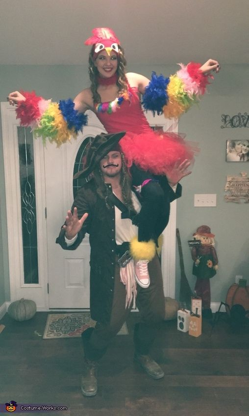 Pirate and Parrot Costume - 2016 Halloween Costume Contest via @costume_works