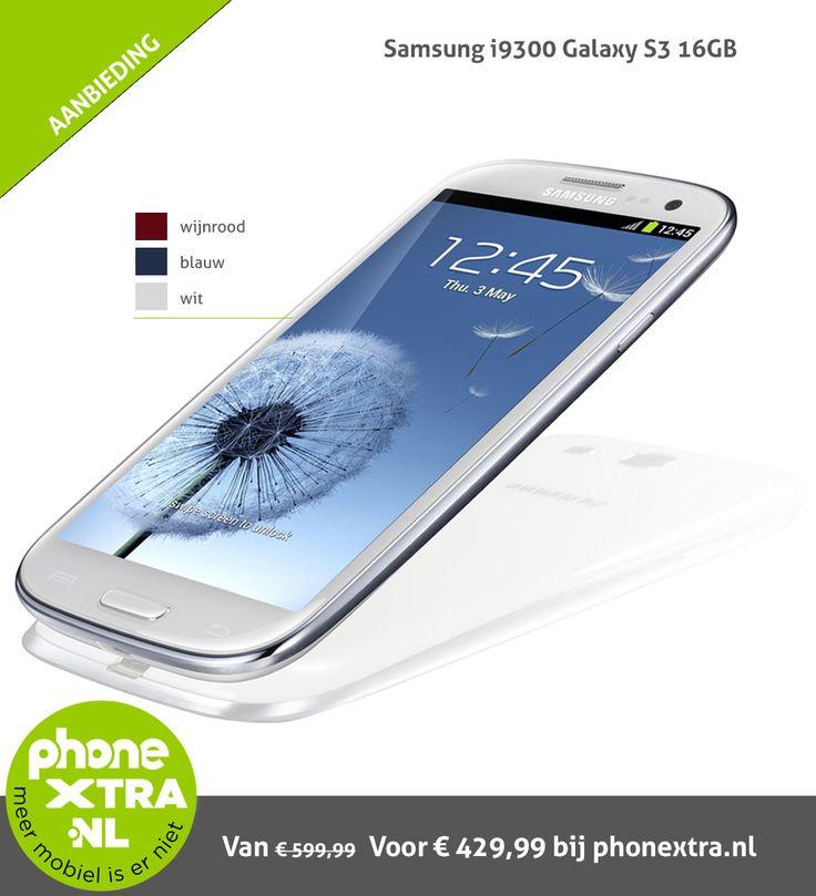Sky is the limit bij de Galaxy Galaxy S3. Nu van €599,99 voor slechts €429,99 bij phonextra.