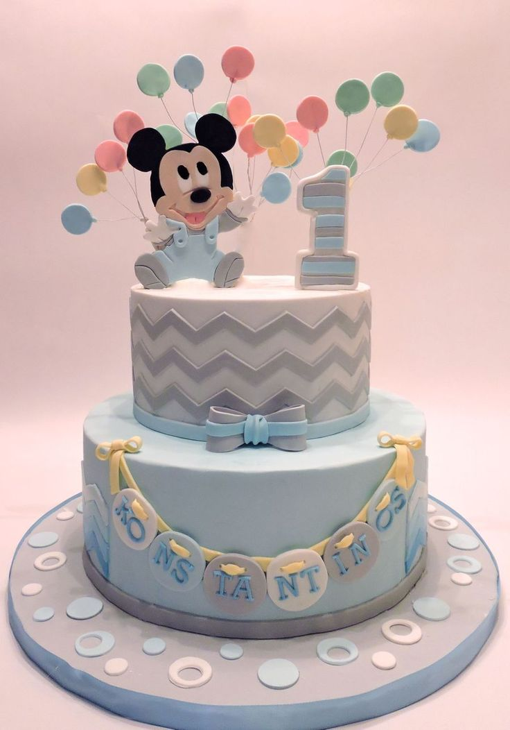 first birthday cake ideas baby mickey mouse on cake central jan carlos 4077