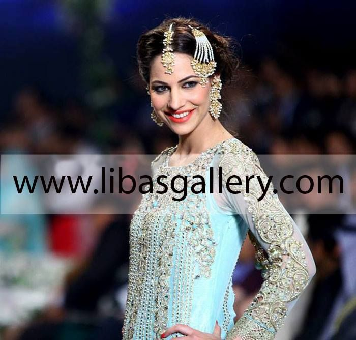 Women Fashion Clothing Top Asian Designer Asifa And Nabeel Dresses Collection Bridal Lehenga Wedding Lehnga Collection Designer Gharara At Pantene Bridal Couture Week 2014