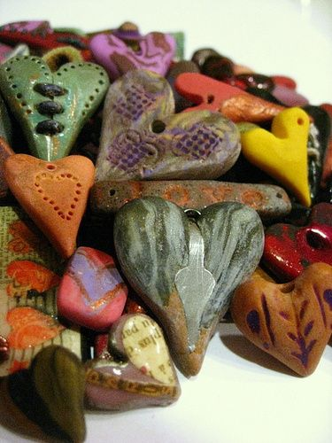 50 ARTISAN Colorful Handmade Hearts bead Collection . Starting at $3 on Tophatter.com!