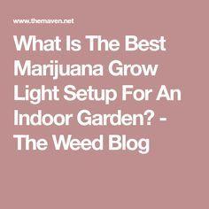 What Is The Best Marijuana Grow Light Setup For An Indoor Garden? - The Weed Blog