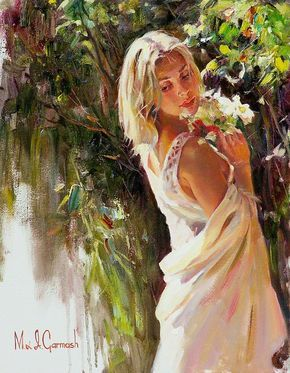 Michael and Inessa Garmash are considered two of the finest Romantic Impressionists of our day. Their incredible talent is only matched by their love and career stories. For biographical notes -in english and italian- and other works by Mr. and Mrs. Garmash, see: Michael and Inessa Garmash | Romantic Impressionists painters ➦.