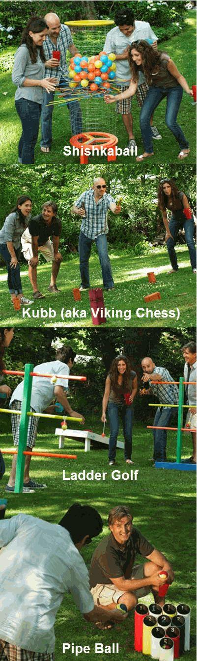 Oversize kid games!!! Pipe Ball Lawn game, Ladder Golf Game, Kubb (aka Viking Chess), Shishkaball Game