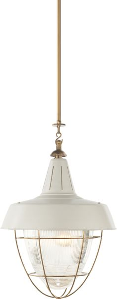 HENRY INDUSTRIAL HANGING LIGHT-  love this for above table- keeping with nautical theme & its huge!