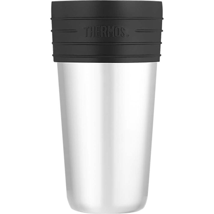 Thermos 20oz ss vacuum insulated coffee (Brown) cup insulator