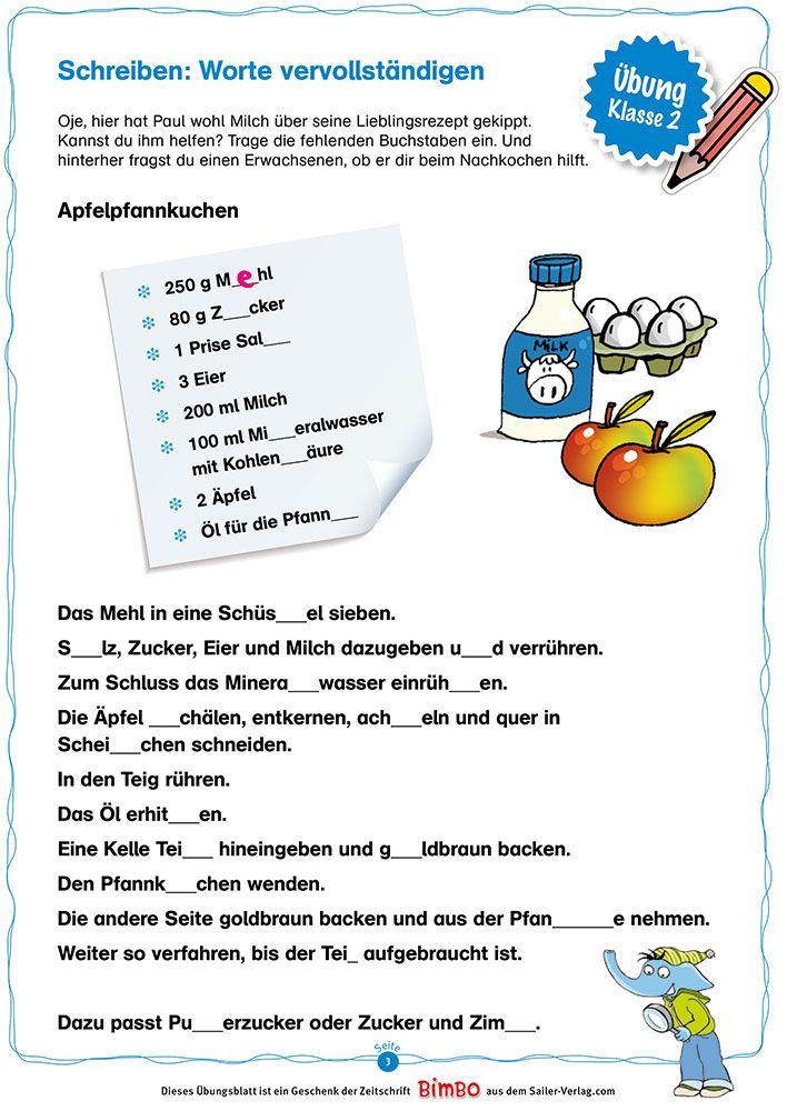 Bildergebnis Fur Rezept Schreiben Grundschule Grundschule Schularbeit Lernen