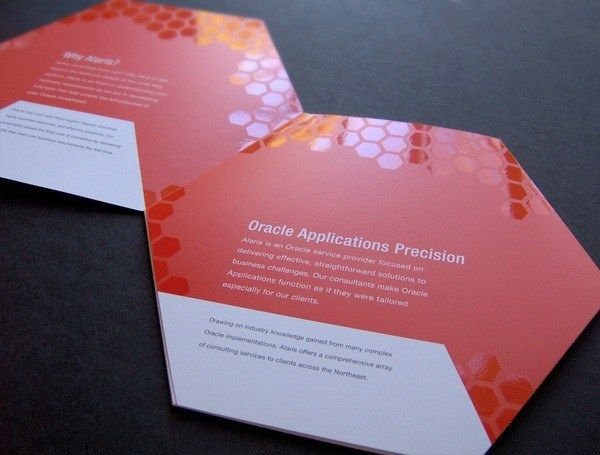 29 best spot uv printing images on pinterest visit cards carte hexagon shaped trifold brochure with high gloss spot uv reheart Gallery