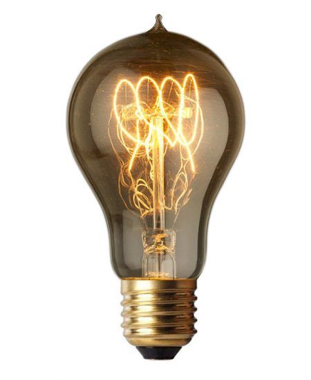 Vintage Edison A19 Spiral Lightbulb available from Home Lighting Hub