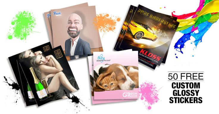 Get 50 free custom Glossy Stickers featuring your business artwork.  Just help us test our new Online Design Studio.  All you pay is $2 postage.  https://www.facebook.com/martinprint/