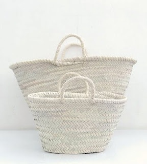 Straw market baskets