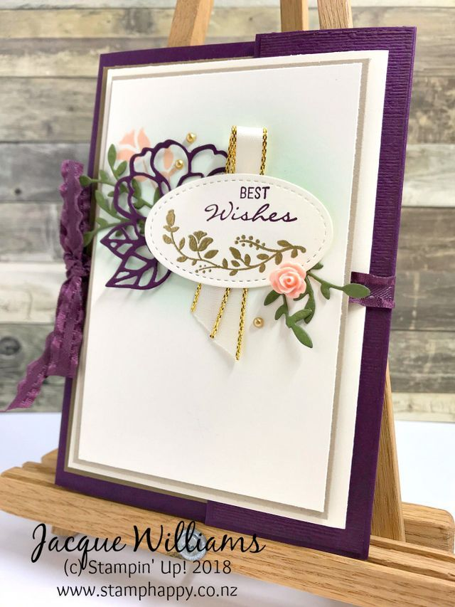 All Stars August Blog Hop Botanical Bliss Double Opening Card Tutorial Available Stamphappy Co Nz Card Tutorial Stampin Up Cards Inspirational Cards