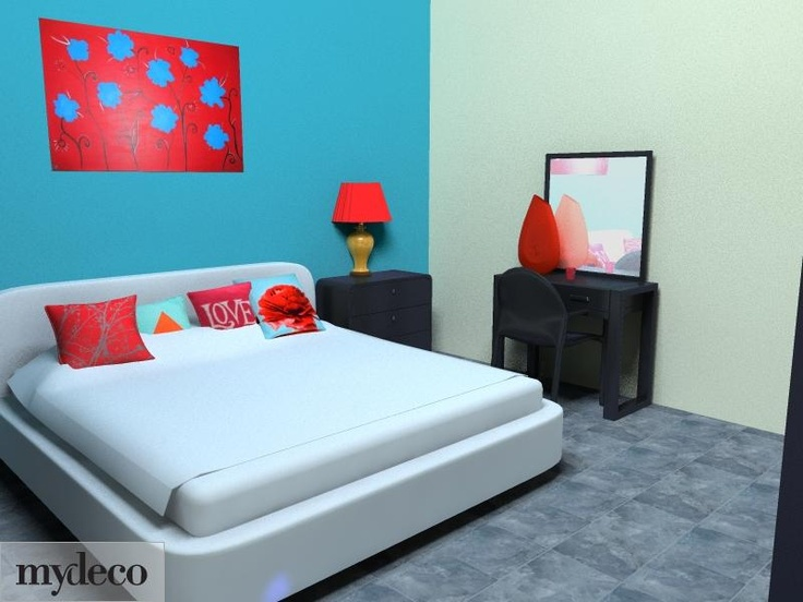 25 best images about red and teal bedroom on pinterest - Teal teen bedroom ...