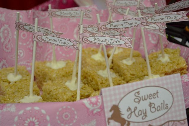 Treats at a Cowgirl Party #cowgirl #partytreats