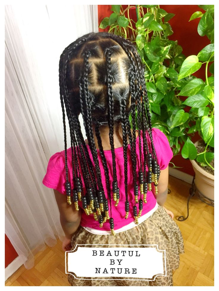 Natural hair box braids for kids Instagram @_beautiful.by.nature_