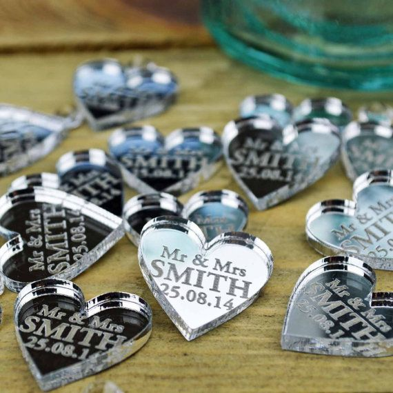Personalised Heart Winter Wedding Table von SecretCreation auf Etsy
