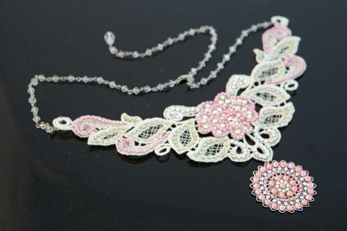 Embellished guipure lace
