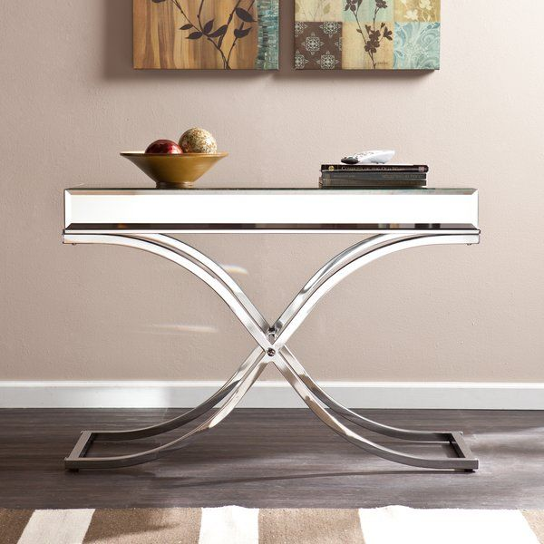 Jeannie Mirrored Console Table Mirrored Console Table Mirror
