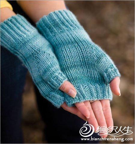 düz örgü modelli eldiven örnekleri