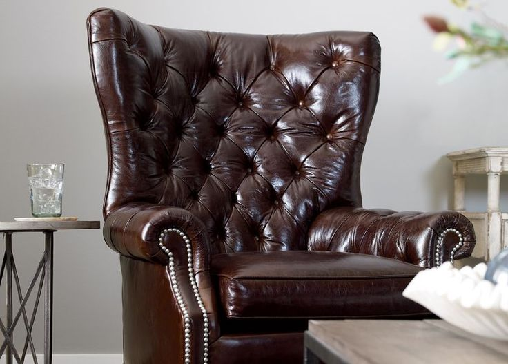 Buy Ethan Allenu0027s Rhodes Leather Chair Or Browse Other Products In Chairs U0026  Chaises.
