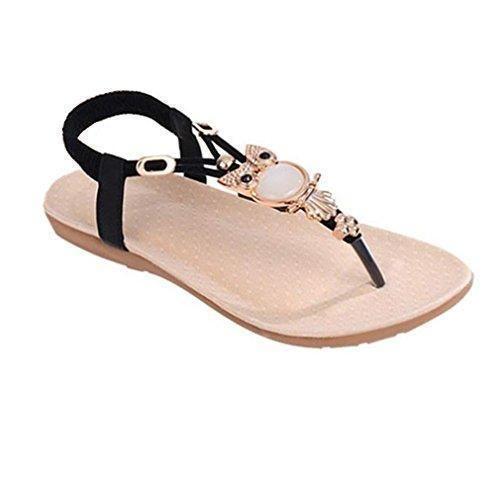 Oferta: 6.45€. Comprar Ofertas de Calzado de mujer,Amlaiworld Diamantes de imitación Búho dulce zapatos de las sandalias del dedo del pie del clip Beach (41) barato. ¡Mira las ofertas!