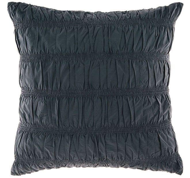Manon European Pillowcase Indigo   Manchester Warehouse