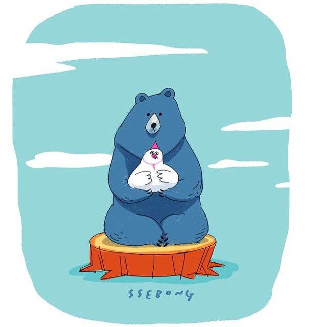 #ssebong #character#illust#illustration#draw#drawing#doddle#쎄봉#일러스트#곰#낙서#그림 치킨thㅏthㅔ여.