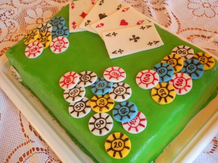 Legelső fondant tortám :-)  my first fondant cake :-) Poker cake,póker torta..