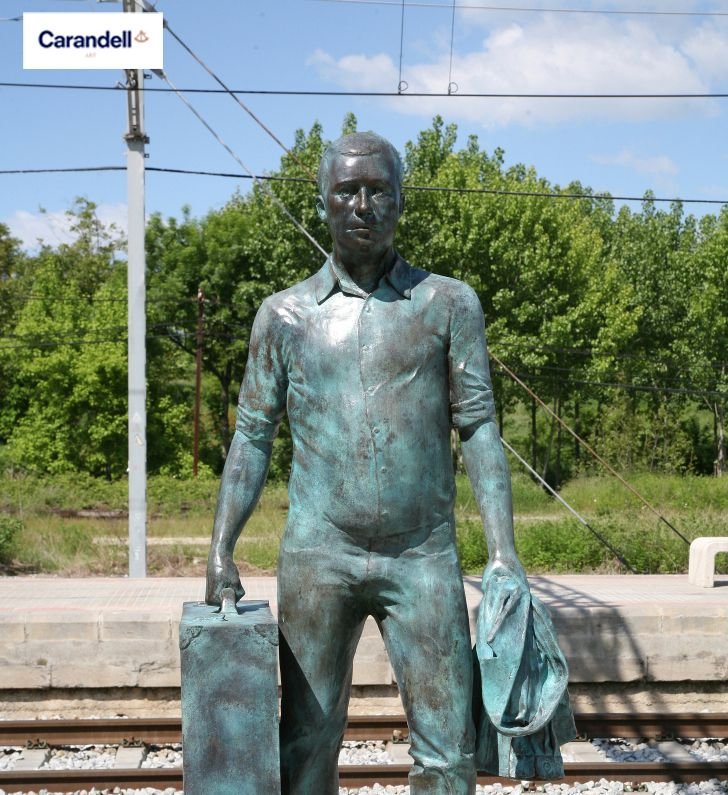Viajero  #escultura #CarandellArt #viajero #viaje
