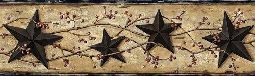 Black Barn Star Wallpaper Border, Country Decor and Primitive Wallpaper by Decorative Wallcoverings, http://www.amazon.com/dp/B008NPM0VG/ref=cm_sw_r_pi_dp_0M1Gqb1K29605