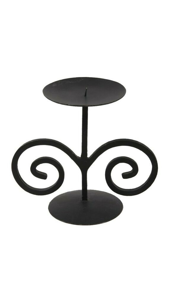 Black Wrought Iron Candle Stand Simple Wrought Iron Candle