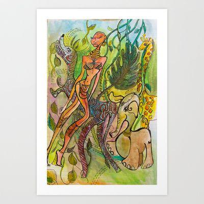 Longneck hilltribe woman Art Print by Valerie Parisius - $17.00 www.valerieparisius.com
