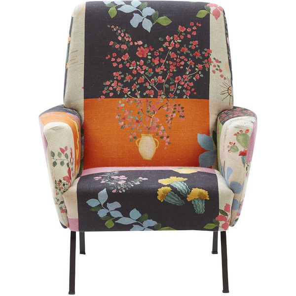 Spezyale Design Atelier Mediterranean Floral Armchair ($3,190) ❤ liked on Polyvore featuring home, furniture, chairs, accent chairs, orange, orange chair, orange armchair, systems furniture, floral chairs and floral furniture
