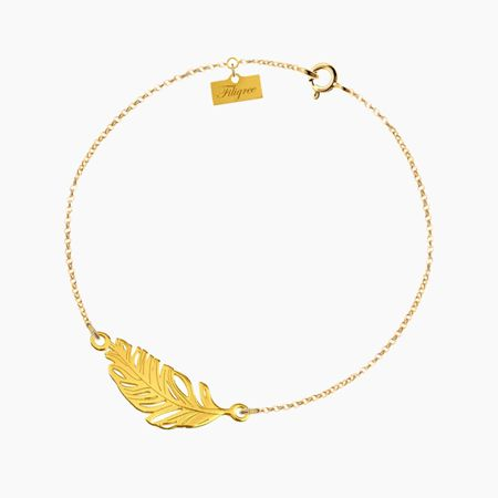 Sterling silver Feather Bracelet with from Filigree.pl. Click on the photo to go to our store!