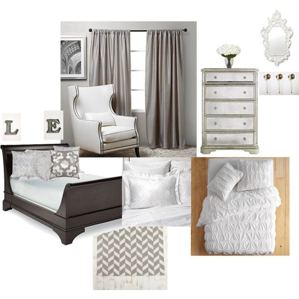 White & Silver Bedroom Makeover Concept