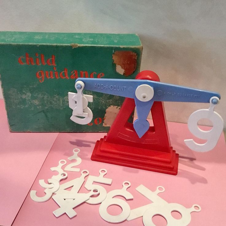 1953 CHILD GUIDANCE Toy Add-a-Count Scale VINTAGE