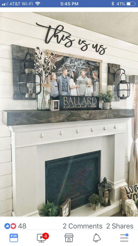 Family Room Design With Tv Over Fireplace Smallroomdesign Farmhouse Decor Living Room Farm House Living Room Country House Decor