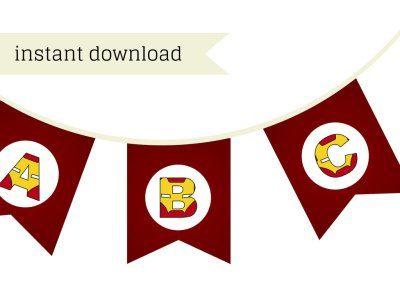 Iron man banner, iron man party banner, ironman party banner, superhero iron man, iron man birthday banner, superhero banner